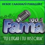 Logo da emissora Radio Fama 100.5 FM