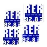 Logo da emissora Rádio Ecos da Raia 92.8 FM