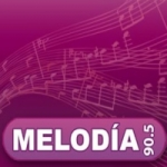 Logo da emissora Radio Melodía 90.5 FM