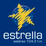 Logo da emissora Radio Estrella Estéreo 104.3 FM