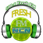 Logo da emissora Radio 100.1 Fresh FM
