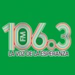Logo da emissora Radio La Voz de la Esperanza 106.3 FM