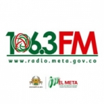 Logo da emissora Radio Meta 106.3 FM