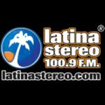 Logo da emissora Radio Latina Stereo 100.9 FM