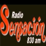 Logo da emissora Radio Sensación 830 AM