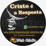 Logo da emissora Rádio Cristo é a Resposta