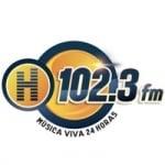 Logo da emissora Radio La H 102.3 FM
