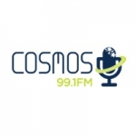 Logo da emissora Radio Cosmos 99.1 FM