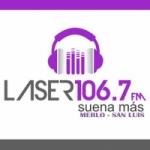 Logo da emissora Radio Laser 106.7 FM