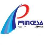 Logo da emissora Rádio Princesa 1480 AM