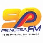 Logo da emissora Rádio Princesa 90.9 FM