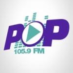 Logo da emissora Rádio Pop 105.9 FM