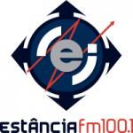 Logo da emissora Rádio Estância 100.1 FM