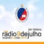 Logo da emissora Rádio 9 de Julho 1600 AM