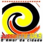 Logo da emissora Rádio Jussari 104.9 FM