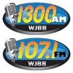 Logo da emissora Radio WJBB 1300 AM 107.1 FM