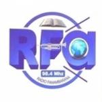 Logo da emissora Radio Fanambarana 98.4 FM