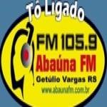 Logo da emissora Rádio Abaúna 105.9 FM