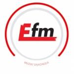 Logo da emissora Radio E-FM 93.7