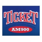 Logo da emissora WJLG 900 AM The Ticket