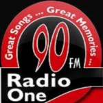 Logo da emissora Radio One 90.0 FM