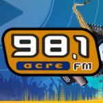 Logo da emissora Rádio Acre 98.1 FM