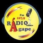 Logo da emissora Rádio Ágape 107.9 FM