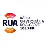 Logo da emissora Rádio Universitária do Algarve 102.7 FM