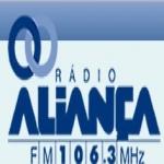 Logo da emissora Rádio Aliança 106.3 FM