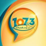 Logo da emissora Rádio Alfa 107.3 FM