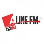 Logo da emissora Rádio Aline 93.7 FM