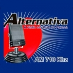Logo da emissora Rádio Alternativa 710 AM