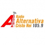 Logo da emissora Rádio Alternativa do Cristo Rei 105.9 FM
