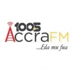 Logo da emissora Radio Accra 100.5 FM