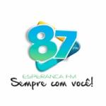 Logo da emissora Rádio Esperança FM 87