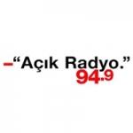 Logo da emissora Açik Radio 94.9 FM