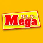 Logo da emissora Rádio Mega FM Litoral 92.5