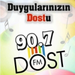 Logo da emissora Radio Hatay Dost 90.7 FM