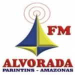 Logo da emissora Rádio Alvorada 100.1 FM