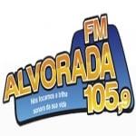 Logo da emissora Rádio Alvorada 105.9 FM