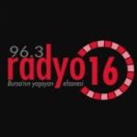 Logo da emissora Radio 16 96.3 FM