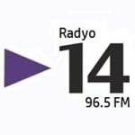 Logo da emissora Radio 14 96.5 FM