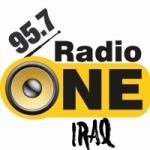 Logo da emissora Radio One Iraq 95.7 FM