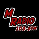 Logo da emissora M Radio 105.5 FM