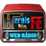 Logo da emissora Rádio Heróis na Fé