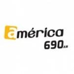 Logo da emissora Rádio América 690 AM
