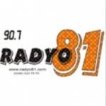 Logo da emissora Radyo 81 90.7 FM