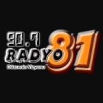 Logo da emissora Radio 81 90.7 FM