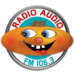 Logo da emissora Radio Audio 106.3 FM