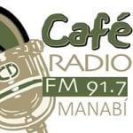 Logo da emissora Cafe Radio Manabí 91.7 FM